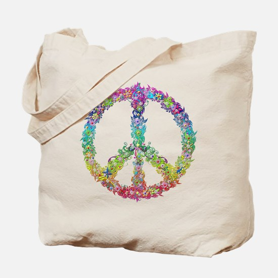 Peace of Flowers Tote Bag