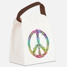 Peace of Flowers Canvas Lunch Bag