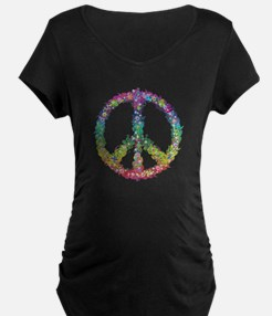 Peace of Flowers Maternity T-Shirt