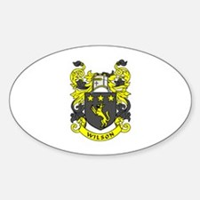 WILSON 2 Family Crest Oval Decal
