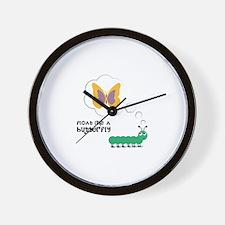 Butterfly Float Wall Clock