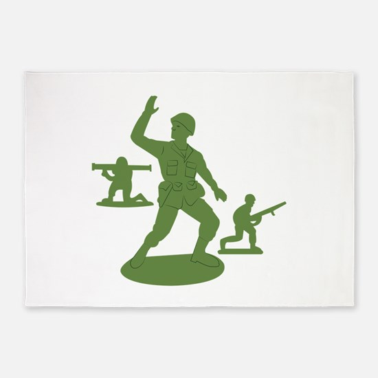 Army Men Toys 5'x7'Area Rug