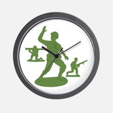 Army Men Toys Wall Clock