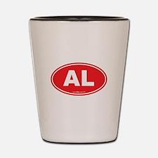 Alabama AL Euro Oval RED Shot Glass