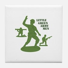 Green Army Men Tile Coaster
