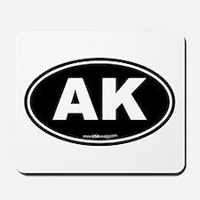 Alaska AK Euro Oval Mousepad