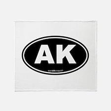 Alaska AK Euro Oval Throw Blanket
