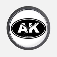 Alaska AK Euro Oval Wall Clock