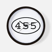455 Oval Wall Clock