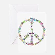 Peace of Flowers Greeting Cards