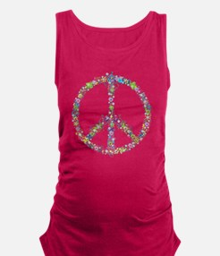 Peace of Flowers Maternity Tank Top