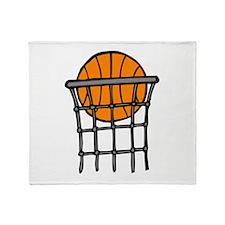 Ball in Basket Throw Blanket