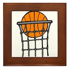 Ball in Basket Framed Tile