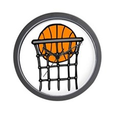 Ball in Basket Wall Clock