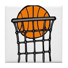 Ball in Basket Tile Coaster