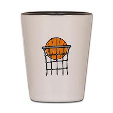 Ball in Basket Shot Glass
