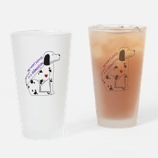 Dalmation Drinking Glass