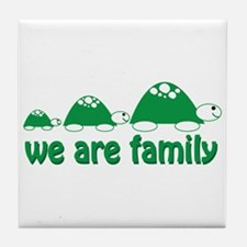 We are Family Tile Coaster