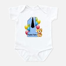 Tie Teddy 1st Birthday Infant Body Suit