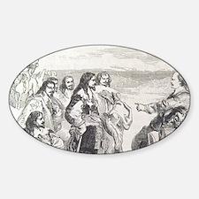 English Civil War. Engraving. Olive Decal