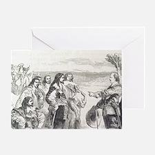 English Civil War. Engraving. Oliver Greeting Card
