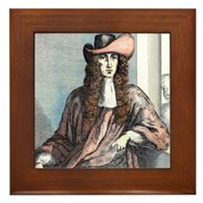 James Whitney- highwayman, born 1660. Framed Tile