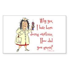Nurse Mandatory Overtime Rectangle Stickers