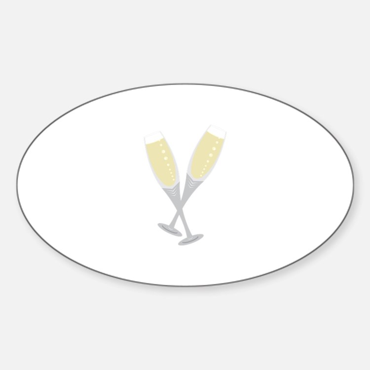 Champagne Flutes Decal