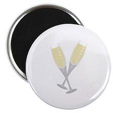 Champagne Flutes Magnets