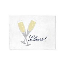 Champagne Cheers 5'x7'Area Rug