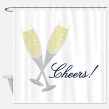 Champagne Cheers Shower Curtain