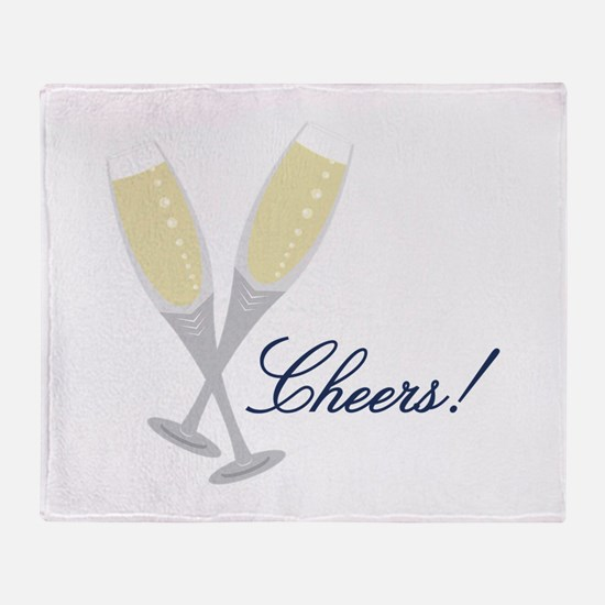 Champagne Cheers Throw Blanket