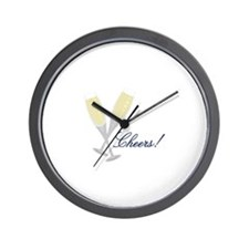 Champagne Cheers Wall Clock