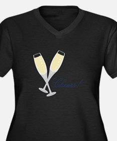 Champagne Cheers Plus Size T-Shirt