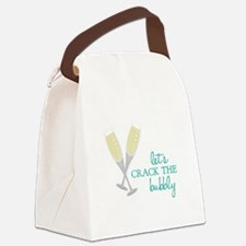 Crack the Bubbly Canvas Lunch Bag