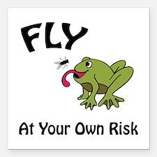 "Risky Flight Square Car Magnet 3"" x 3"""