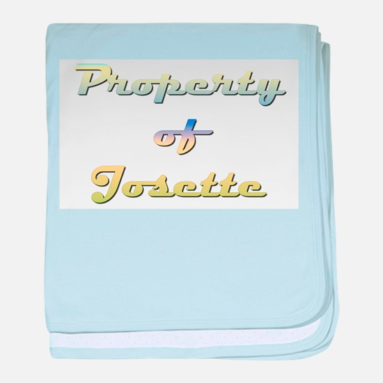 Property Of Josette Female baby blanket