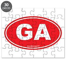 Georgia GA Euro Oval Puzzle