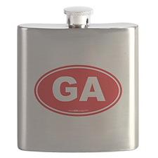 Georgia GA Euro Oval Flask