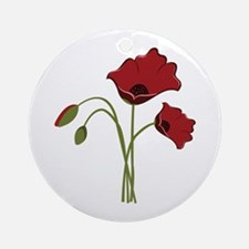 Bunch Of Poppies Ornament (Round)