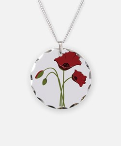 Bunch Of Poppies Necklace