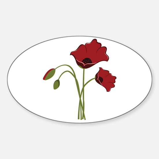 Bunch Of Poppies Decal