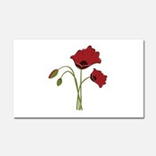Bunch Of Poppies Car Magnet 20 x 12