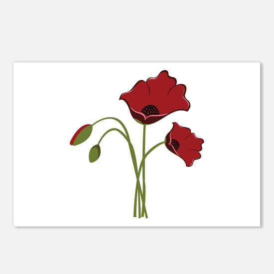 Bunch Of Poppies Postcards (Package of 8)