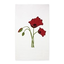 Bunch Of Poppies 3'x5' Area Rug