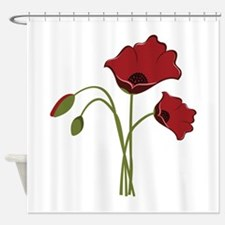 Bunch Of Poppies Shower Curtain