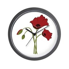 Bunch Of Poppies Wall Clock