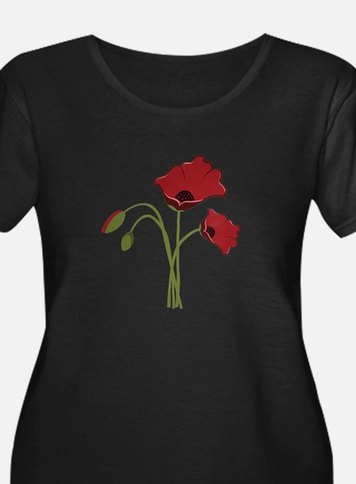Bunch Of Poppies Plus Size T-Shirt