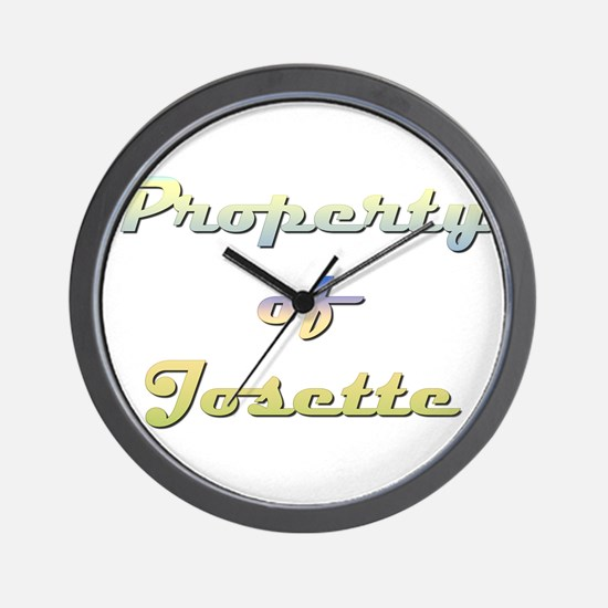 Property Of Josette Female Wall Clock