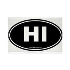 Hawaii HI Euro Oval Rectangle Magnet (10 pack)